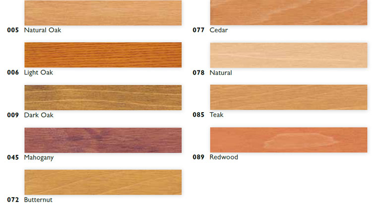 Sikkens wood stain color chart