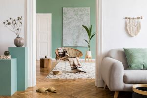 Cream-and-green-rooms
