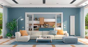 Interior-Home-Blue-Living-Room
