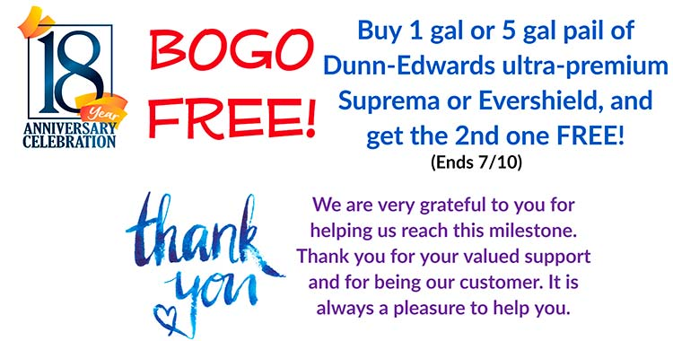 Sedona Paint Center Anniversary BOGO sale