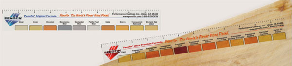 Penofin wood finish color chart